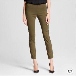 Who What Wear Olive Skinny Pants